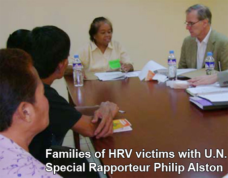 Families of HRV victims with UNSR Philip Alston