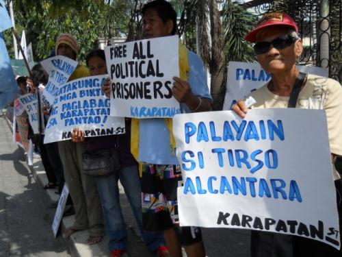 Karapatan and Selda picket Taguig RTC