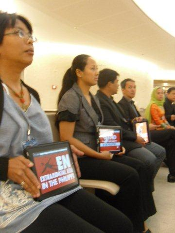 End Extrajudicial Killings in the Philippines!, End Impunity!, Free all Political Prisoners! - the Filipino people speak out.
