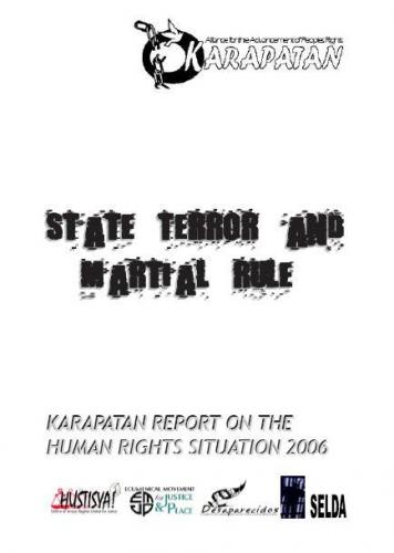 karapatan report on the human rights situation 2006